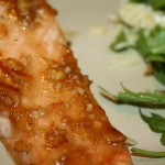 Roasted Salmon with Soy Marmalade Glaze